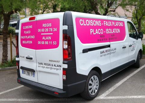 Décoration de véhicule pour la société REGIS à Cannes