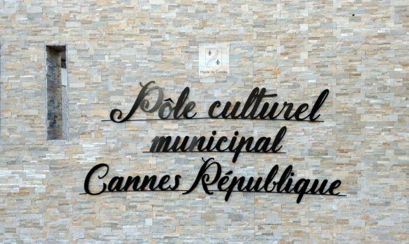 Enseigne pour la mairie de Cannes