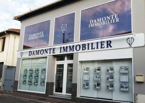 Enseigne lumineuse pour Damonte Immobilier au Cannet