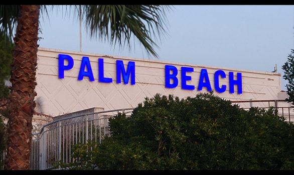 Enseigne lumineuse pour le Palm Beach à Cannes