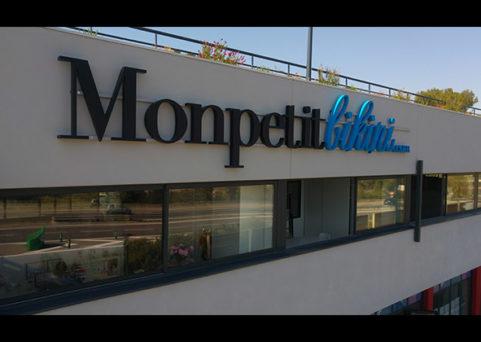 Enseigne lumineuse pour Monpetitbikini à Mougins