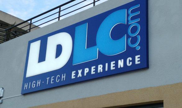 Enseignes lumineuses pour LDLC Grasse