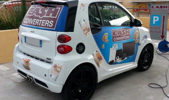 Décoration de véhicule Cash Converters Grasse