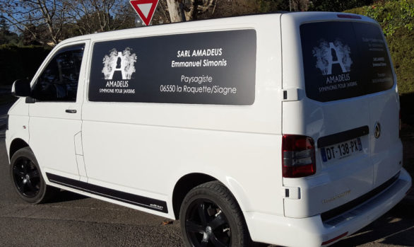 décoration de véhicule pour Amadeus à Pégomas